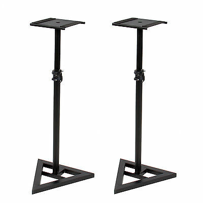Studio Monitor Speaker Stand Height Adjustable Pair Concert Band DJ Studio