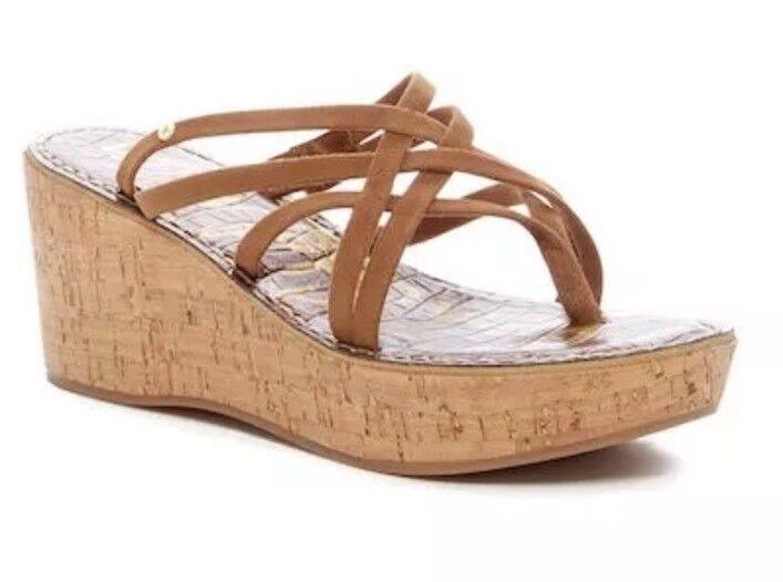Sam Edelman Randy Suede Platform Brown Sandals 5104 Size 9.5 M