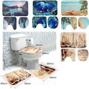 Das Bild Wird Geladen 3 Tlg Badgarnitur Badvorleger Badezimmer Matte  Set Duschvorleger