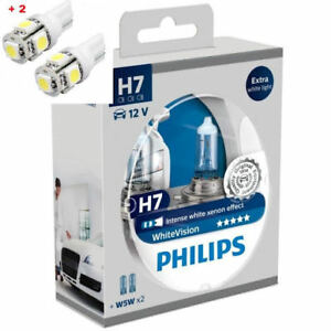PHILIPS H7 WhiteVision Ultra 60/% 55W 12V PX26D 12972WVUSM Pack of 2 H7 2 W5W