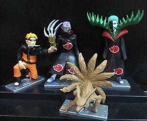 lot of 4 Naruto figure ZETSU Naruto 3 5