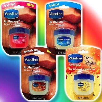 Vaseline Lip Balm Therapy Rosy Fragrance / Original / Cocoa Butter / Crème Brulé