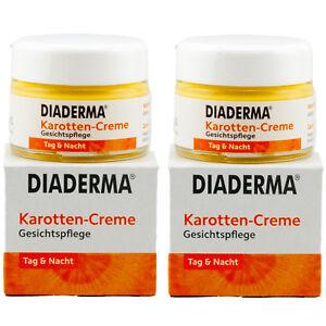 Diaderma-KAROTTEN-CREME-Gesichtspflege-2-x-50-ml-Tag-amp-Nacht-TOP-ANGEBOT