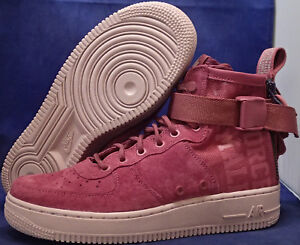 watch 4e5a7 ca0a7 Details about Womens Nike SF Air Force 1 Mid Force is Female Vintage Wine  SZ 8.5 (AJ1698-600)