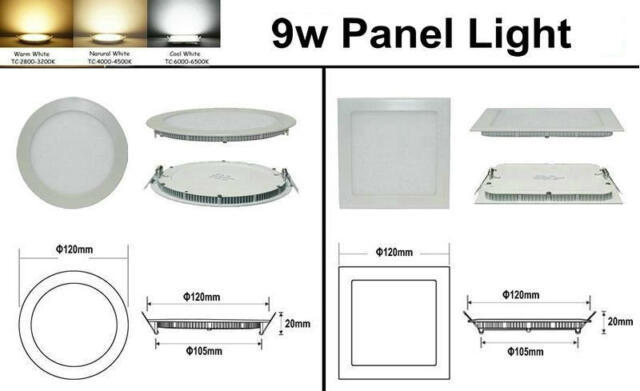 CREE 6W/9W/12W/15W/18W/21W LED Recessed Ceiling Panel Down Light Lamp #gib