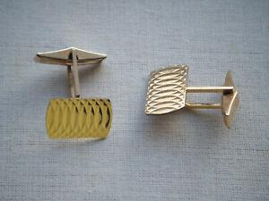 Vintage-En-Oro-Diamante-Corte-Giratorio-Gemelos-marcado-RG