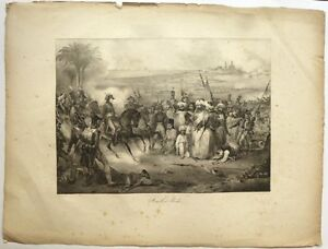 Lithographie-DECAMPS-034-Bataille-d-039-Aboukir-campagne-d-039-Egypte-Bonaparte-034