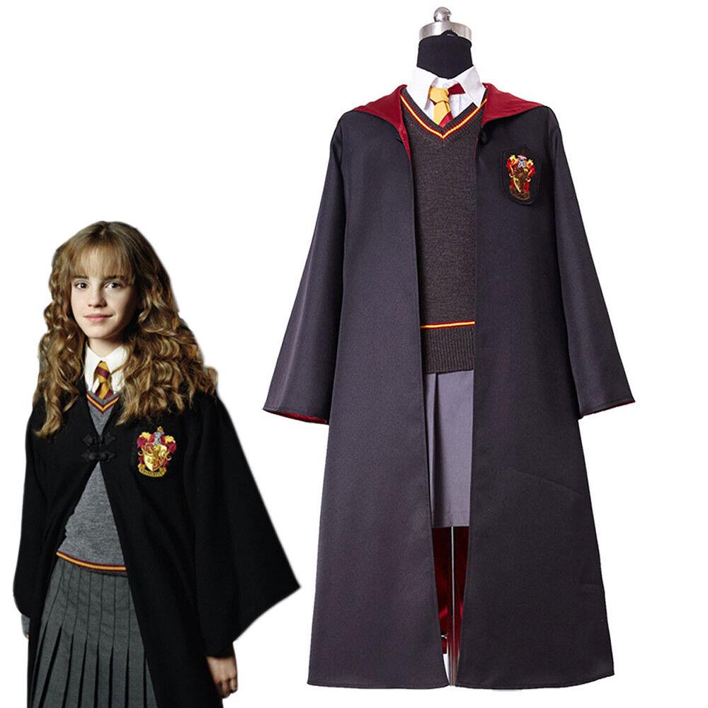 m dchen harry potter gryffindor hermione granger schuluniform cosplay kost m set ebay. Black Bedroom Furniture Sets. Home Design Ideas