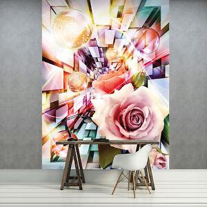 Nappes papier peint papiers peints photos image fleurs abstraction roses coloré photo 3fx3456vea-afficher le titre d`origine