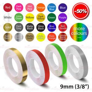 "3//8/"" Roll Vinyl Pinstriping Pin Stripe Solid Line Tape Sticker 9mm DARK RED"