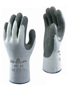 5 x SHOWA 451 Thermo Winter Warm Cold Grip Gloves Latex Palm Coated Gardening