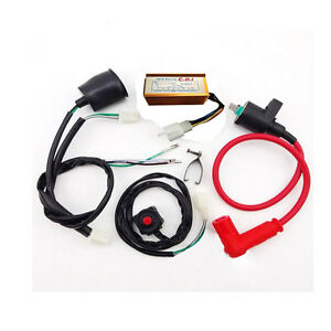 Wiring-Loom-Ignition-Coil-CDI-Unit-Kill-switch-50cc-110cc-125cc-PIT-Dirt-Bike