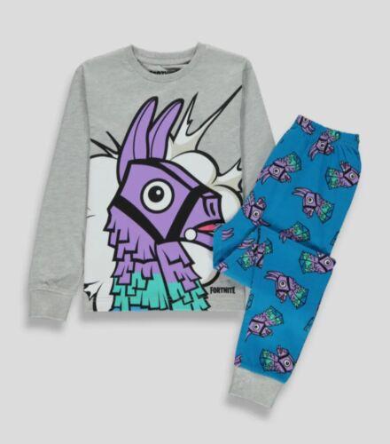 Kids Fortnite Llama Long Sleeve Pyjama Set Size M 11-12yrs