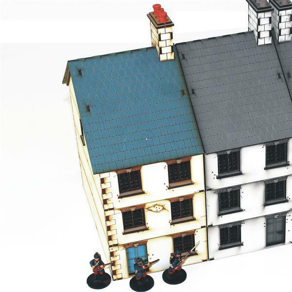 4GROUND - Three storey end terrace - 28mm - 28S-WAW-106