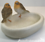 Robin-Bird-Bath-feeder-aged-stone-effect-bowl-ideal-garden-bird-robin-lover-gift miniatuur 7