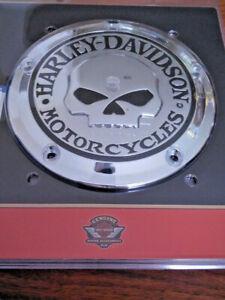 Harley Davidson Skull Totenkopf Kupplungsdeckel Derby Deckel chrom 25441-04A