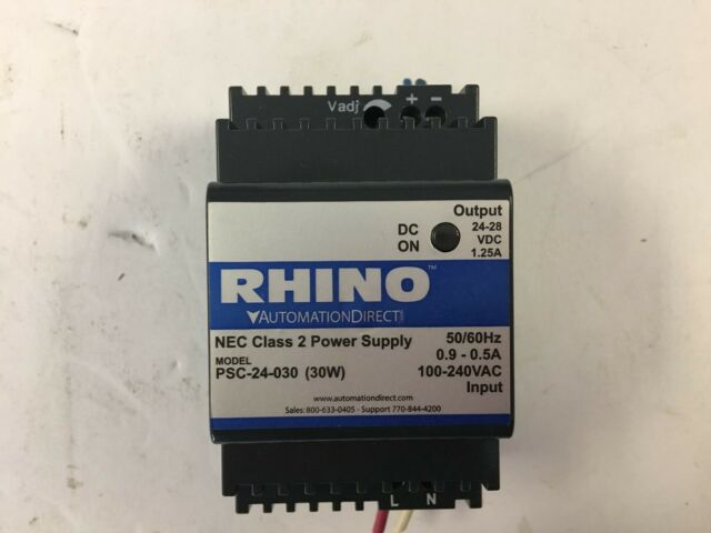 Automation Direct Rhino Psc-24-030 24vdc Power Supply