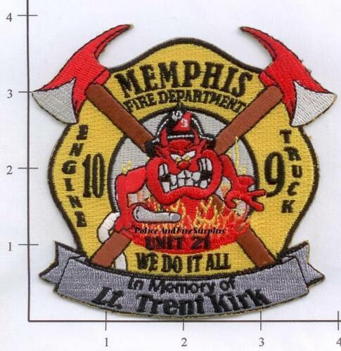 Memphis Engine 10 Truck 9 TN Tribute Fire Dept Patch In Memory Of Tennessee