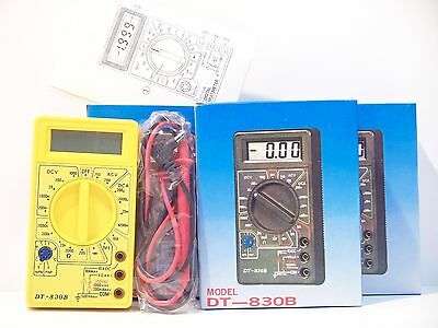 DT830B Digital LCD Voltmeter Ammeter Ohmmeter Multimeter Handheld Battery Tester