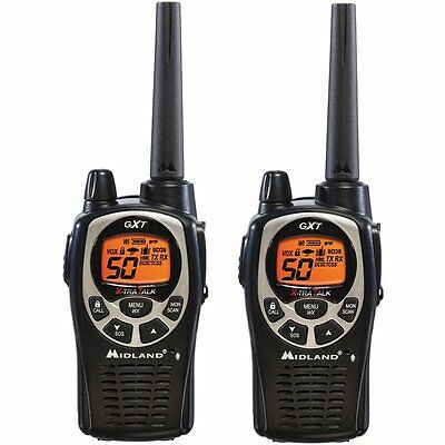Midland GXT1000 GXT1000VP4 Handheld 2-Way Walkie Talkie Radio 36 Mile Two-Way