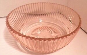 Pink-Queen-Mary-Depression-Glass-Lot-3-Bowls-2-berry-1-7-034-DEEP-as-is