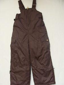 NWT Girls Zero XPosur Snow Pants Size 4 SKI Brown Bibs Overalls ... c6ddc1df1