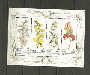 SOUTH-AFRICA-1981-The-10th-World-Orchid-Conference-Durban-MUH-MINI-SHEET