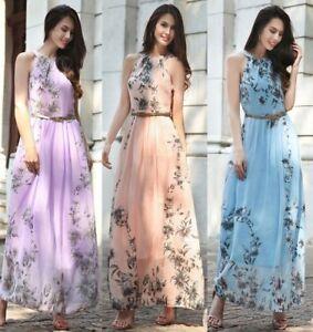 68005dbd50c 5 color Summer Women s Fashion Boho Long Maxi Dress Sleeveless Lady ...