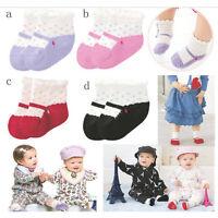 Bébé Enfant Fille Garçon Chaussettes Pantoufles Chaussure Soulier Antidérapants