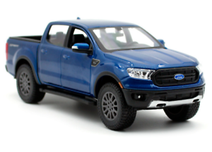 MAISTO-1-27-2019-FORD-Ranger-Blue-DIECAST-MODEL-CAR-NEW-IN-BOX