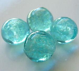 30pcs-10mm-Round-034-Glow-in-the-Dark-034-Glass-Beads-Aqua-Blue