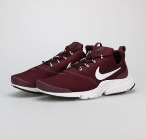 authorized site sneakers new cheap Details about Nike Presto Fly Running Shoes 908019 606 Mens UK 9 EU 44  Burgundy White