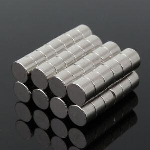 50pcs-6X4MM-N50-Super-Stark-Rund-Scheibenfoermig-Bloecke-Seltenerd-Neodym-Magnet