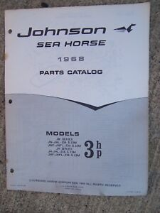 Hp Parts Store >> Details About 1968 Johnson Sea Horse 3 Hp Models Outboard Motor Parts Catalog More In Store L