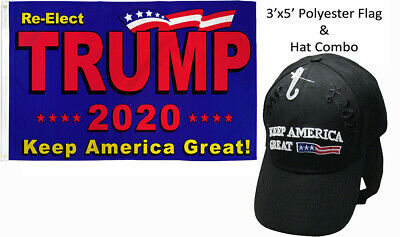 /& Trump 2020 Keep America Great Red Hat Set 3/'x5/' Re-Elect Trump 2020 Flag RUF