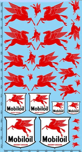 195 x 100 mm MOBIL Sponsoren Decal 09-3 1:18 Decal Abziehbilder