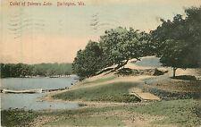 Wisconsin, WI, Burlington, Outlet of Bohners Lake 1908 Postcard