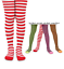 Jefferies Stripe Striped Footed Tights 2-10YRS Light Pink Lime Orange Black Red