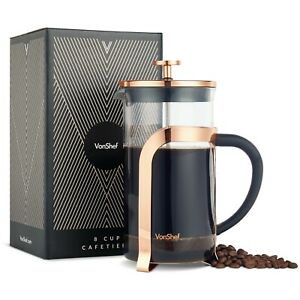 VonShef-Premium-Glass-Heat-Resistant-French-Press-Cafetiere-Coffee-Maker