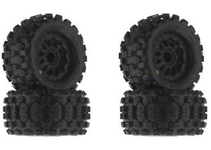"NEW Pro-Line Traxxas Jato Badlands MX28 2.8"" Mounted Tire / Wheel Set (4) PRO101"