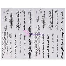2x Waterproof Non-Toxic Temporary Tattoo Art Fashion Words Tattoos Sticker Decor