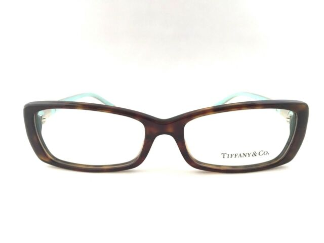 43f58fee27e New Tiffany   Co. TF 2070B 8015 Dark Havana Blue 53mm Eyeglasses Italy w