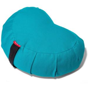 La paix Yoga Méditation Sarrasin Crescent Traversin Oreiller Coussin Bleu Sarcelle Turquoise