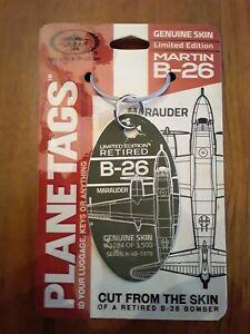 B-26-Marauder-Genuine-Aircraft-Skin-Plane-Tag-World-War-2-Veteran-Free-Ship