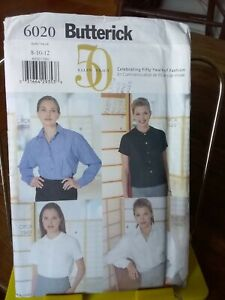 Oop-Butterick-Ellen-Tracy-6020-misses-blouse-shirts-4-styles-sz-8-12-NEW