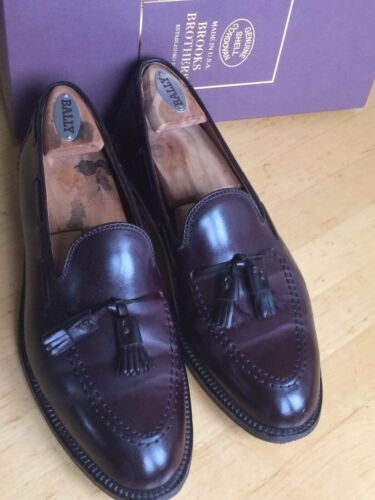 Loafers D Shell Brooks Brothers Tassel Alden 9 Cordovan XEHS0