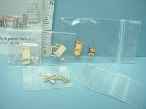 Miniature DH//DH Traditional Kitchen Furniture Kit #G 5 Pc 1//144th Sc Hart/'s