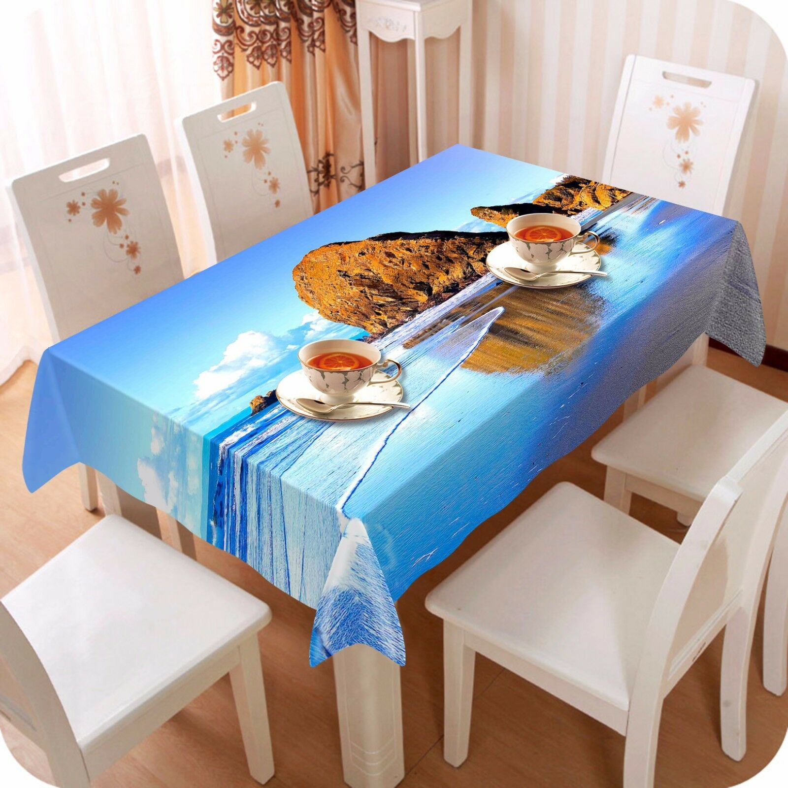 3D Stone sea86 Tablecloth Table Cover Cloth Birthday Party Event AJ WALLPAPER AU