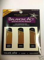 Max Factor Balancing Act Liquid Makeup Shade Sampler For Dark Skin.