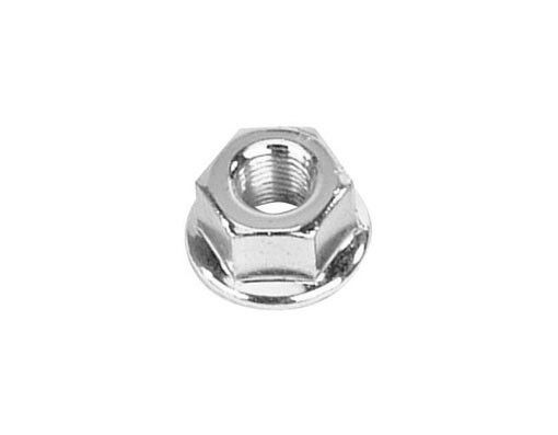 """Steel Flanged BMX FIXIE Axle Nuts 3//8/"""" SILVER x 26T Set of 2 10mm 1 Pair"""